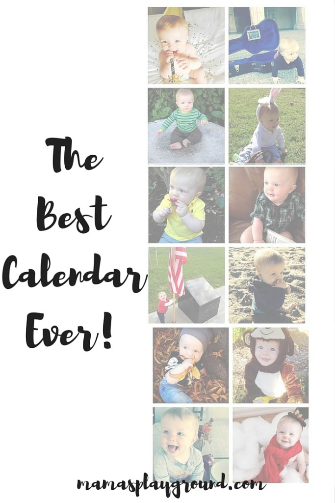DIY calendar of your baby's first year. The perfect Christmas gift for the grandparents.