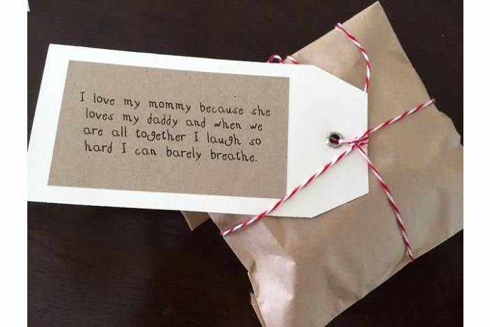 Gift tag quote
