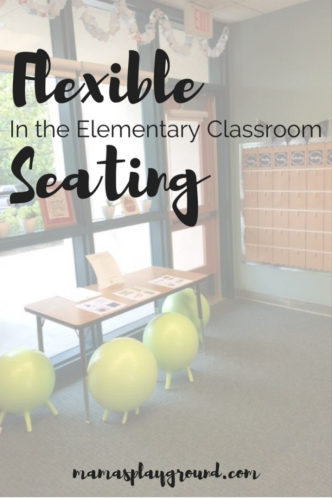 Flexible seating in the elementary classroom makes a BIG impact on learning.