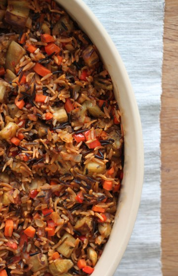 Wild Rice and Whole Wheat Orzo Casserole