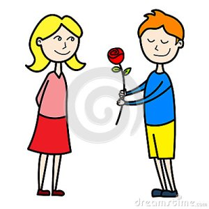 kids-lovers-first-date-illustration-smiling-kid-giving-red-rose-to-his-girlfriend-their-30825581