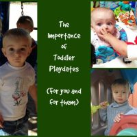 The importance of Toddler Playdates