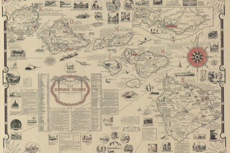 aloha a pictorial map of the hawaiian islands, the united