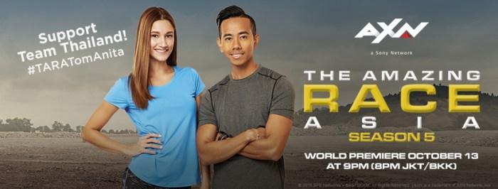 team thailand TARA the amazing race asia season 4