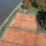 Riverside Park's 10 Clay Tennis Courts at 96th Street and the Hudson River  (Photo: xmarksthespot)