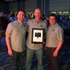 The Great North Aleworks crew,  John Cataldo, Rob North and Brian Parda at the Craft Brewers Conference