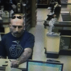 Surveillance photo of a bank robber, identified as Stephen Gingras, in connection with a bank robbery in Bedford, Mass., on Aug. 22.