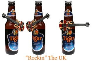 Tiger Beer with guitars