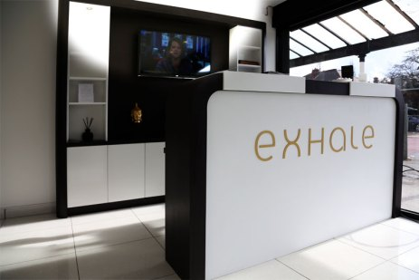 Modern Spa Reception at Exhale Therapy Disdsbury Manchester