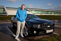 Manchester United's Wayne Rooney with his Chevrolet Camaro