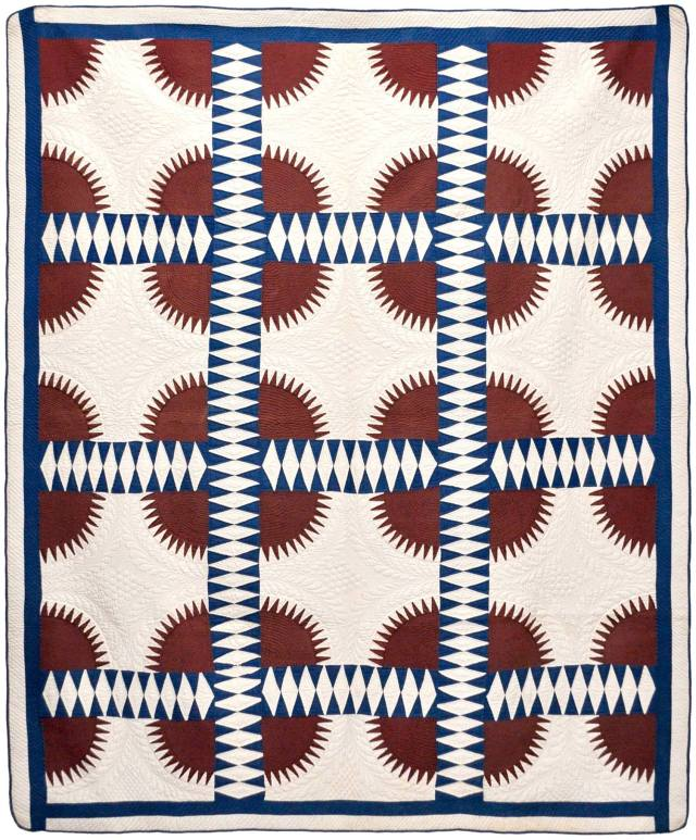 """c. 1860, unknown maker. Quilt from """"Why Quilts Matter, History Art & Politics"""" courtesy of The Volckening Collection."""