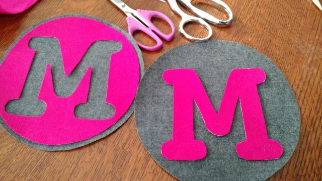 Two types of monograms!  I explain how to cut the templates out below.