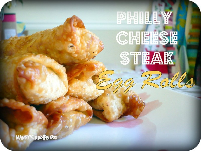 Large Of Philly Cheesesteak Egg Rolls