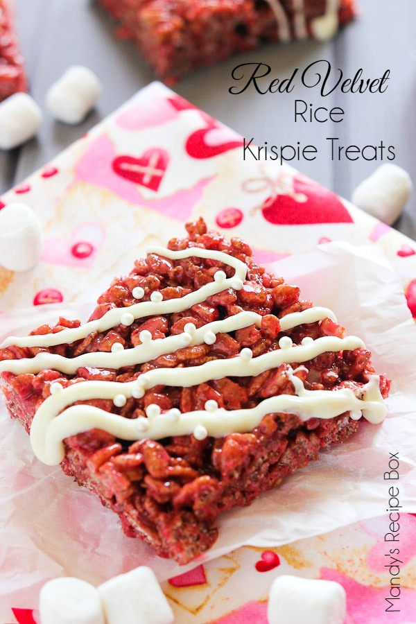 Red Velvet Rice Krispie Treats