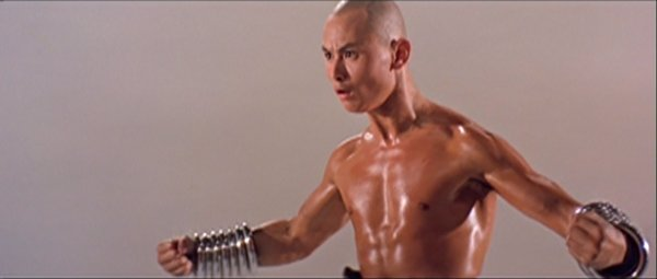 Gordon Liu shows off his fists.