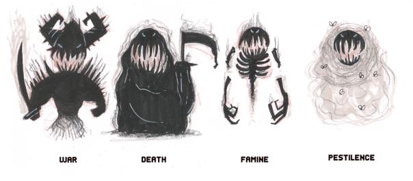 james-four-horsemen-sketch