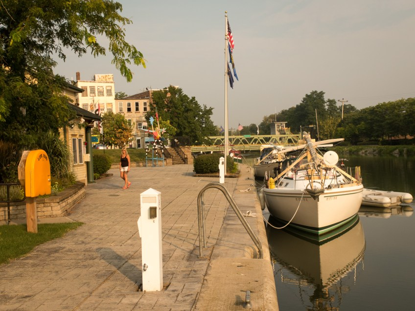 One of the small towns along the canal.