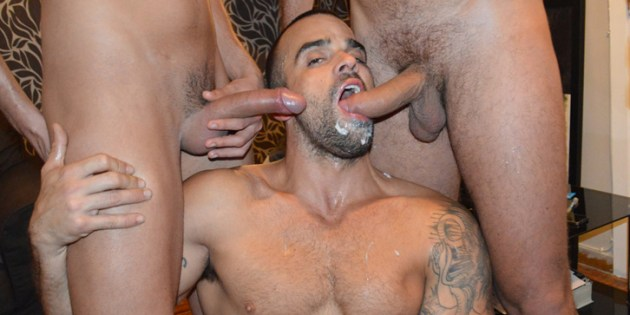 Party of Five: Damien Crosse Takes 4 Anonymous Cocks