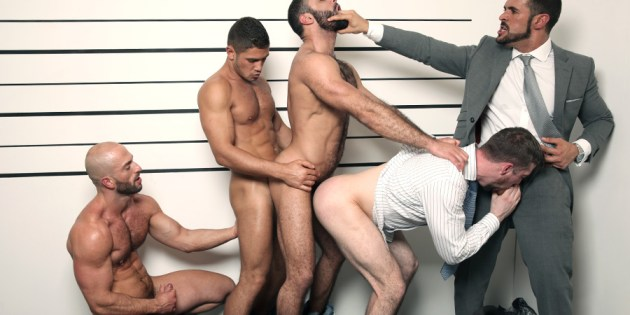 Party of Five: Scott Hunter's Muscle Hunk Gangbang
