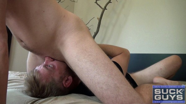 Jaxson gets his first gay blowjob and rimjob on gay porn site SUCK off GUYS.