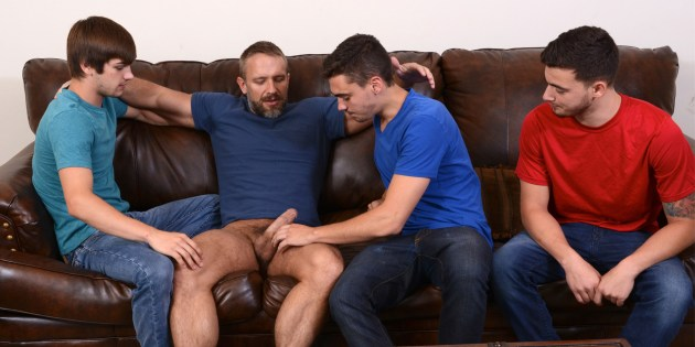 """Four Play: Dirk Caber's Triple-Penetration In """"Stepfather's Secret"""""""