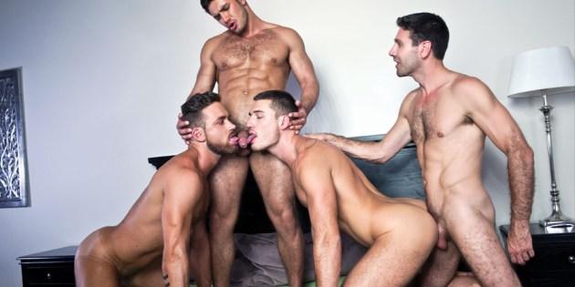 Four Play: Logan Moore, Dato Foland, Craig Daniel & Theo Ford's Bareback Orgy