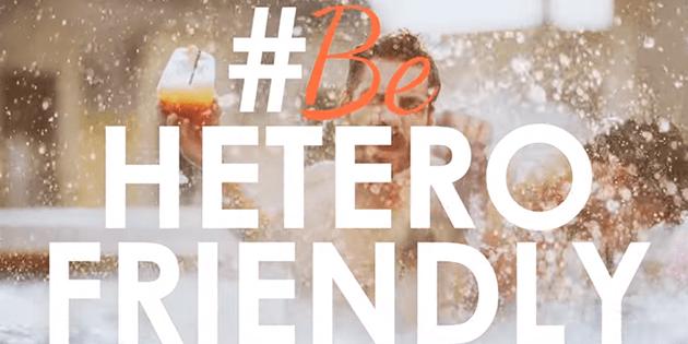 """Axel Hotels les dice a los heteros """"#Be Heterofriendly"""""""