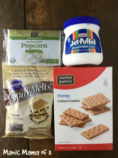 Smore Popcorn Ingredients