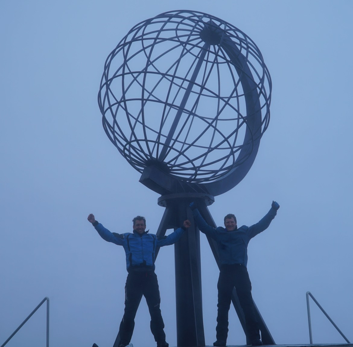 Dave & Roy at Nordkapp