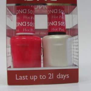 DND Soak Off Gel & Nail Lacquer 505 - Hot Pink