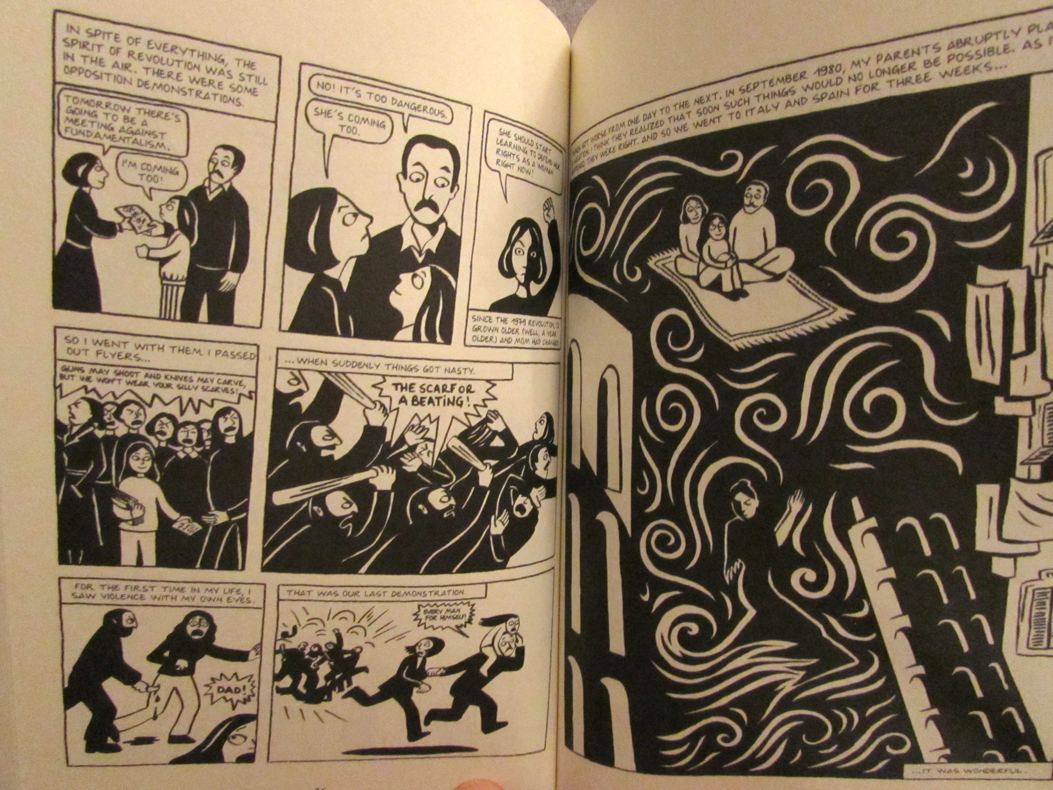 """a look in the iranian revolution in persepolis a novel by marjane satrapi """"persepolis"""" by marjane satrapi essay sample in the novel, persepolis: the story of a childhood by marjane satrapi, there are many different themes that you could look at and decide to analyze."""