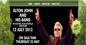 Elton John, Ray Davies & Elvis Costello for Barclaycard Presents British Summer Time Hyde Park