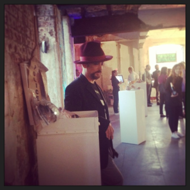 Boy George at the launch of Platform 6 exhibition & auction to support Stonewall