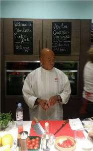 The master Ken Hom at work