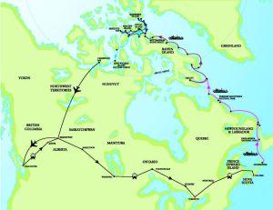 Map_Circumnavigation of Canada