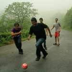 Football in the Western Ghats - On the road from TAPMI, Manipal to Hanumangundi, Kudremukh
