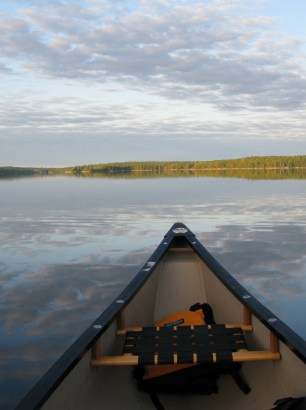Canoeing on Crotch Lake. Copyright Martin J Smith 2010 ©