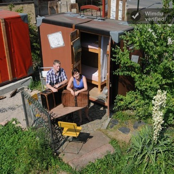 Suitcase hotel, Lunzenau, Germany -- Unusual and unique accommodations