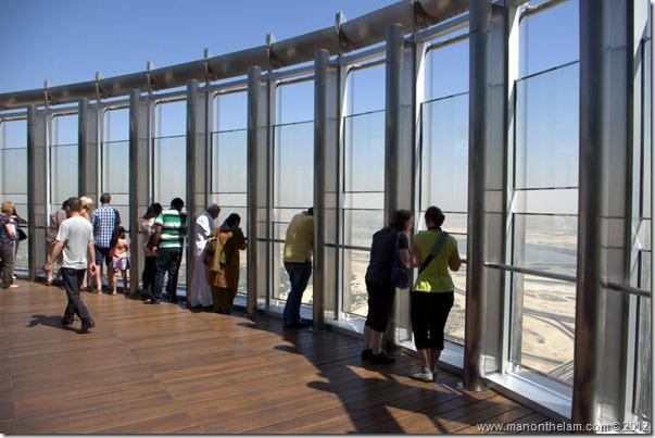 Observation deck, Tallest building in the world, Burj Khalifa, Dubai, UAE