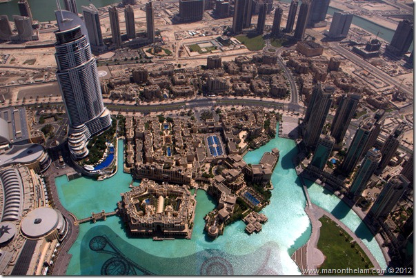 View from the top of of the tallest building in the world, the Burj Khalifa, Dubai, UAE