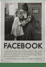 vintage facebook woman 1920s social media icon manonthelam