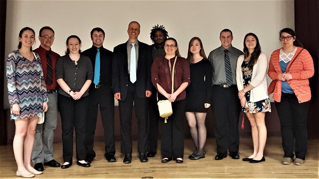 Mansfield University Chemistry students with speaker, Dr. Paolo Garbielli