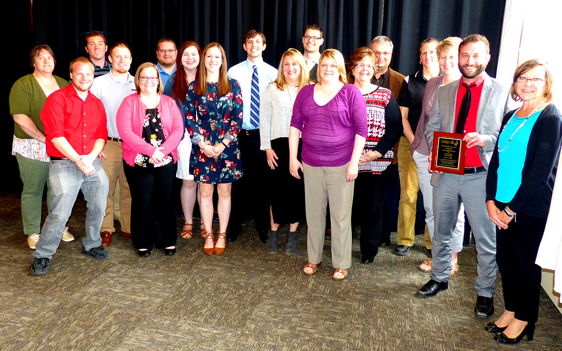 Department of Student Life and Living received the Spotlight Award.