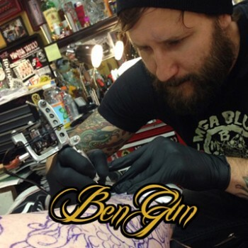 Ben Gun Badass Bear Tattoo Time Lapse Part 1 Mantra Tattoo