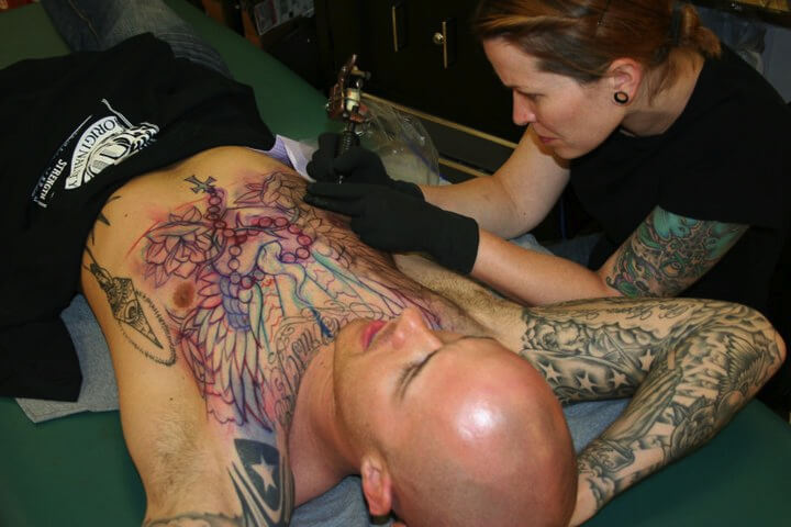 chest tattoos in Denver