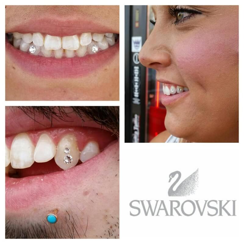 Swarovski Tooth Gems from Mantra Tattoo