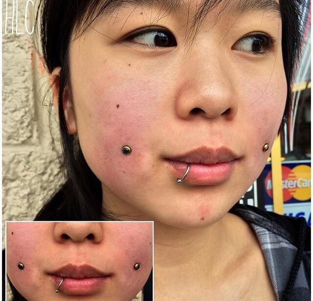 Dermal Implant Piercings at Mantra Tattoo