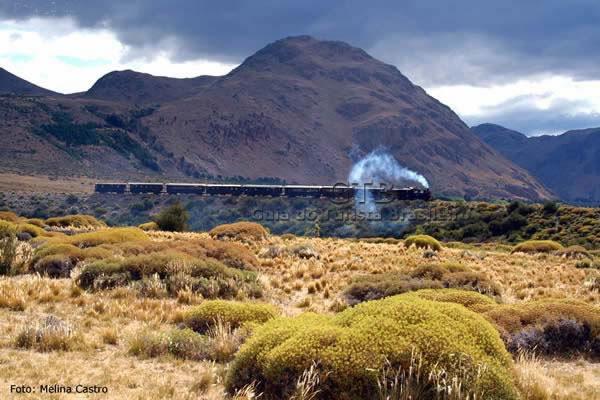 Trem na Patagônia Argentina, foto Melina Castro