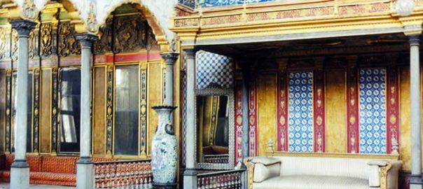 Interior do palácio de Topkapı, Istambul, Turquia