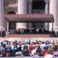 Vaticano, o papa recebendo fiéis